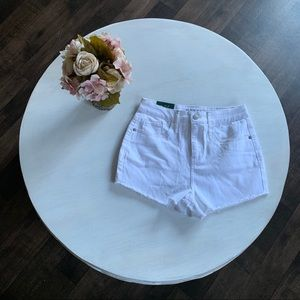 Wild fable white high waisted jean shorts